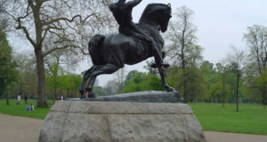 Physical Energy statue of George Frederick Watts, Kensington Gardens, London. Author and Copyright Niccolò di Lalla