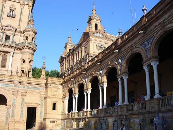 Plaza de España, Seville, Andalusia, Spain. Author and Copyright Liliana Ramerini