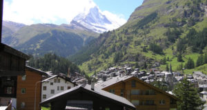 Zermatt with the Matterhorn peak in the background, Switzerland. Author and Copyright Marco Ramerini