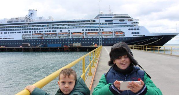 Andrea and Mattia, Punta Arenas, Chile. Author and Copyright Marco Ramerini