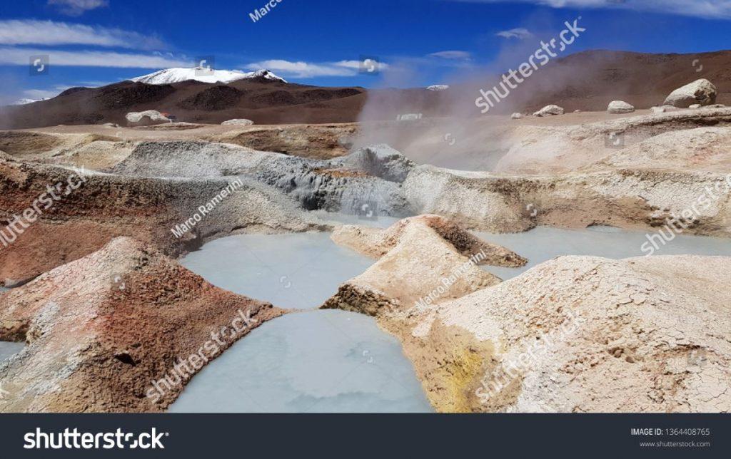 Geyser Sol de Manana, Bolivia. Author and Copyright Marco Ramerini