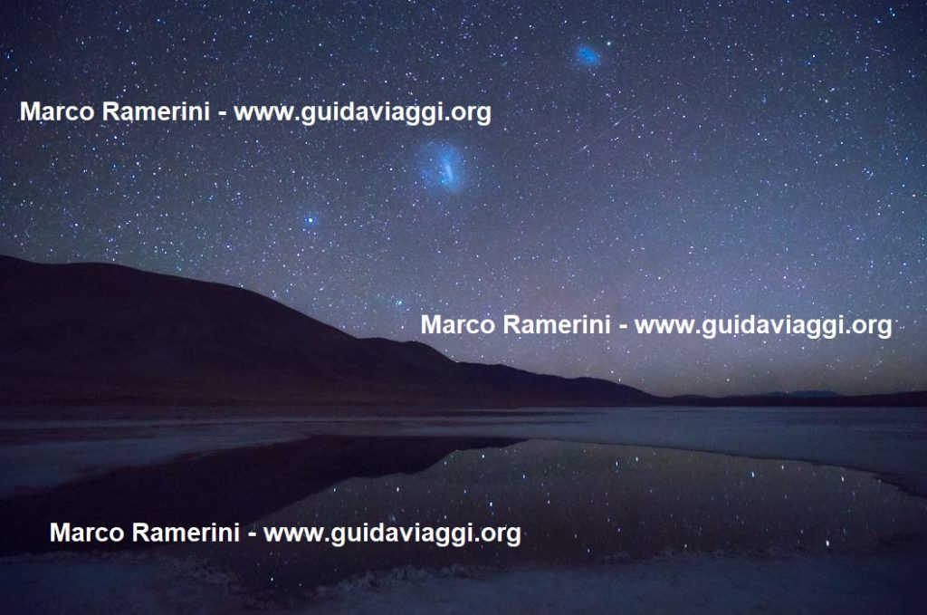 The Ojos de Mar and the reflected stars, Argentina. Author and Copyright Marco Ramerini