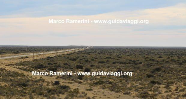 The semi-desert landscape of the Valdés Peninsula, Argentina. Author and Copyright Marco Ramerini