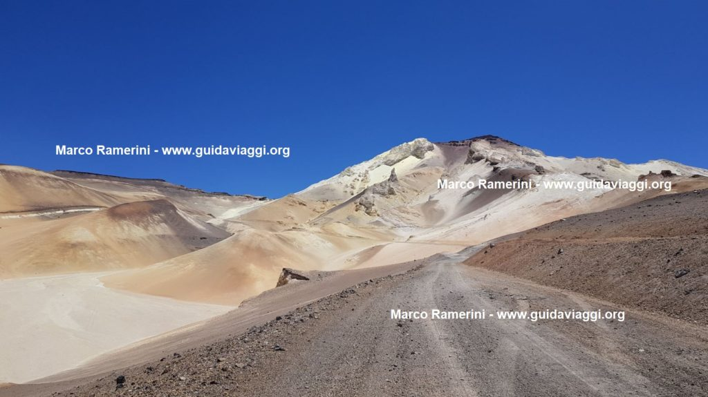 The sulfur mountain of Mina Julia, Argentina. Author and Copyright Marco Ramerini