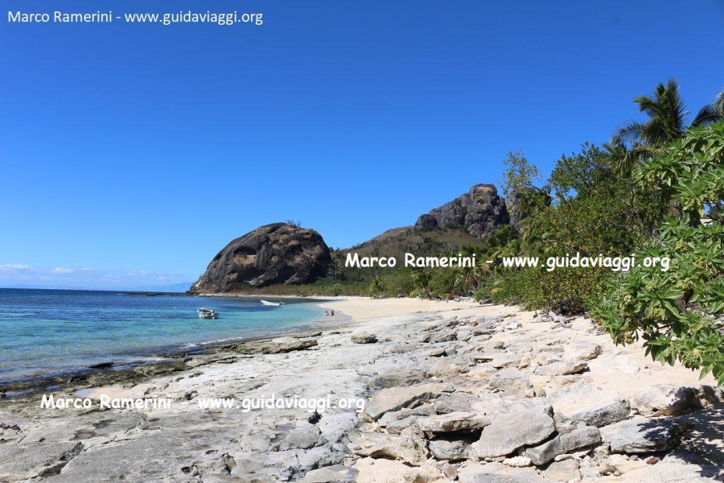The beach, Kuata, Yasawa Islands, Fiji. Author and Copyright Marco Ramerini