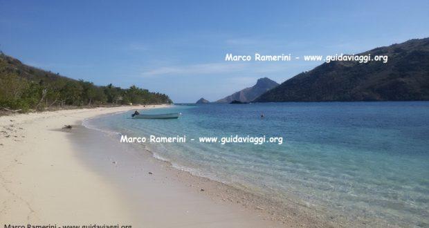 The beach, Kuata, Yasawa Islands, Fiji. Author and Copyright Marco Ramerini.