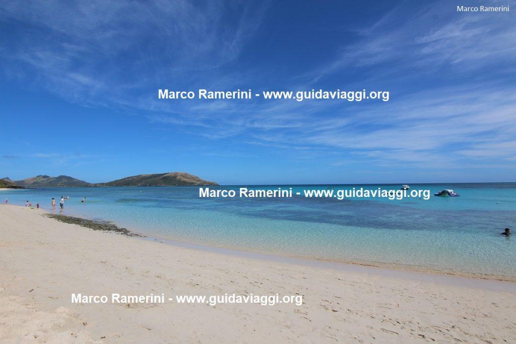 The Blue Lagoon Beach, Nacula, Yasawa Islands, Fiji. Author and Copyright Marco Ramerini