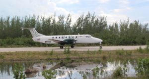 The plane that connects Stella Maris airport with Nassau. Long Island, Bahamas. Author and Copyright Marco Ramerini