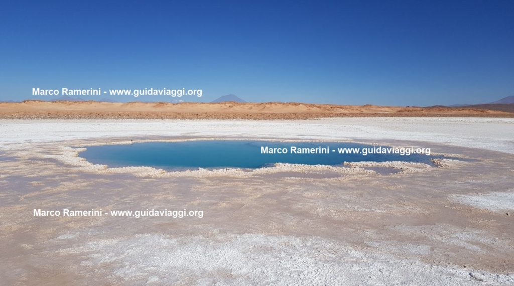 The pools of Ojos de Mar, Tolar Grande, Argentina. Author and Copyright Marco Ramerini