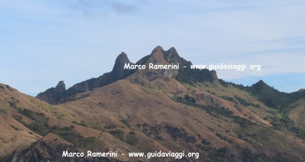 The spectacular mountains of the island of Waya, Yasawa Islands, Fiji. Author and Copyright Marco Ramerini