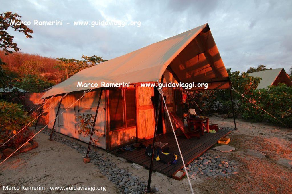 Safari tents, Kuata, Yasawa Islands, Fiji. Author and Copyright Marco Ramerini
