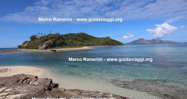 Narara seen from Naukacuvu, Yasawa Islands, Fiji. Author and Copyright Marco Ramerini
