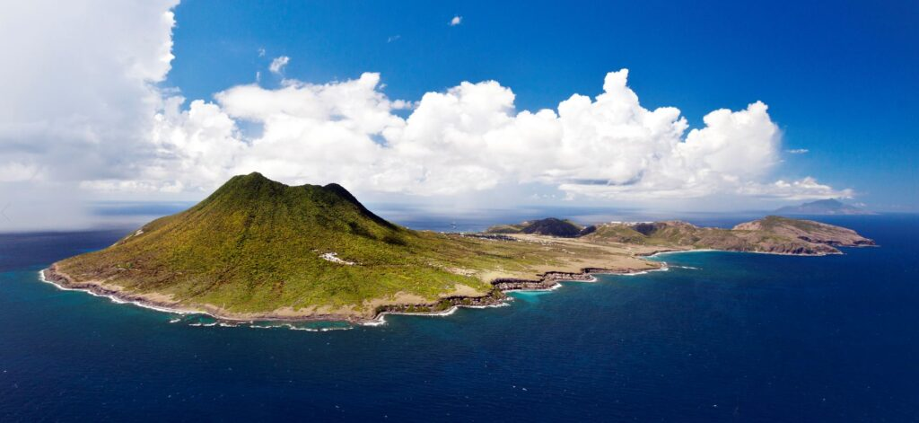The island of Sint Eustatius. Credit Cees Timmers