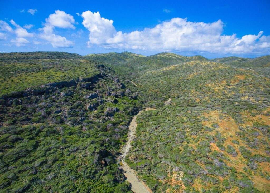 Landscape in the Arikok National Park, Aruba. Photo Aruba Tourism Authority.