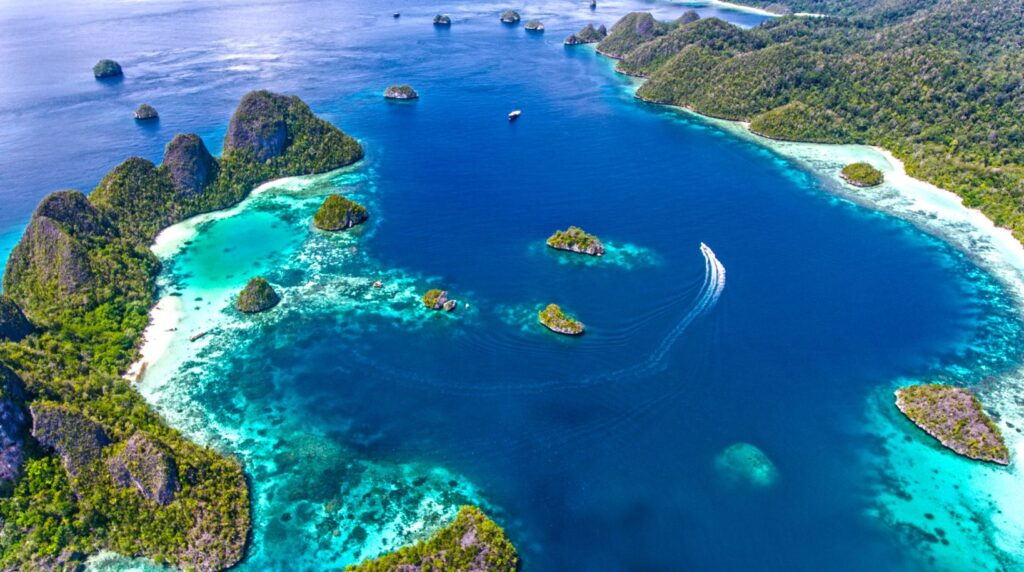 Raja Ampat, Indonesien. Credit Ministry of Tourism, Republic of Indonesia by KIAT