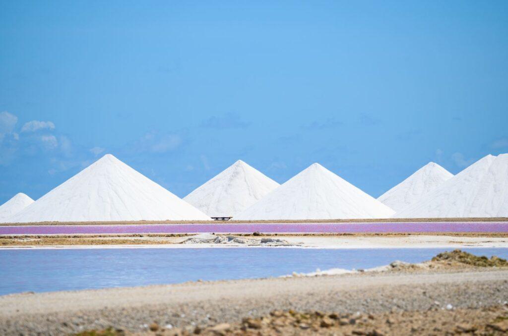 Salzverdampfungsteich, Bonaire. Fotokredit Bonaire Tourismus