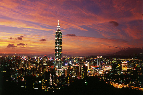 Taipei at night, Taiwan. Photo courtesy Taiwan Tourism Bureau