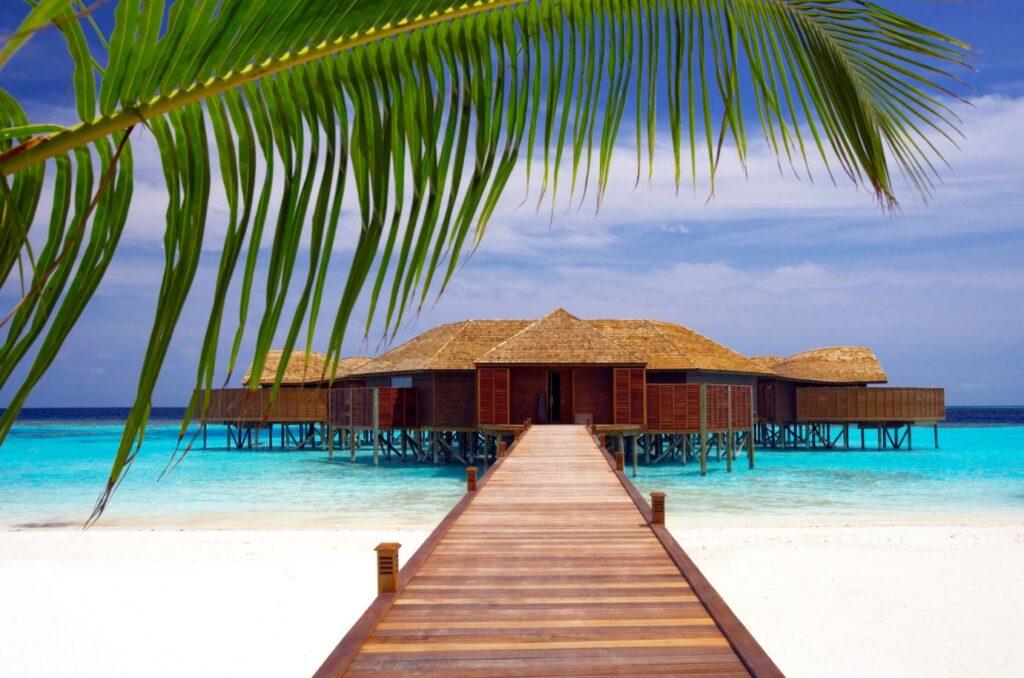 Eine touristische Einrichtung auf den Malediven. Credit Maldives Tourism
