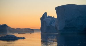 Icebergs in the Icefjord, Ilulissat, Greenland. Author and Copyright Marco Ramerini