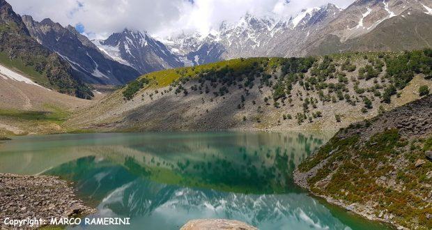 Lake Rama and the slopes of Nanga Parbat, Pakistan. Author and Copyright Marco Ramerini