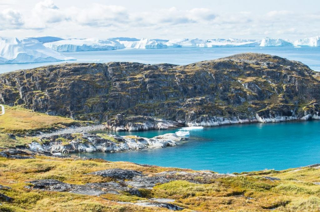 Along the yellow trail, Icefjord, Ilulissat, Greenland. Author and Copyright Marco Ramerini
